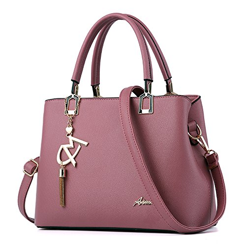 Mode Ozean Handtasche Frauen Atmosphäre Schulter Crossbody Tasche Deep Pink
