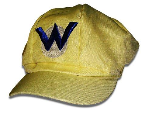 Wario Mütze Gelb, Mario Kostüm, Einheitsgröße, Unisex Mütze für (Kostüm Mario Bowser)