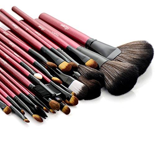 Glow 30 Rouge qualité professionnelle Pinceaux de maquillage