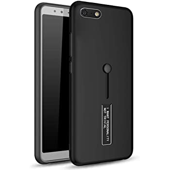 BestTalk Honor 7S Extreme Shock Absorption Tough Armor Case with Inbuilt Stand & Hand Holder Strap for Honor 7S(Black)