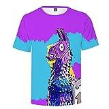 AGOLOD Camiseta para niño Gaming Llama