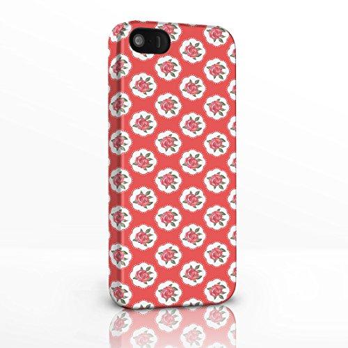 Kitsch Vintage Floral Gemustert Shabby Chic Handy Fällen für das iPhone Serie. 3D Hard Rückseite Glossy Cover für iPhone Modelle., plastik, 2. Scottie Dogs on White Background, iPhone 4 / 4S 5. Red Roses on Red Background
