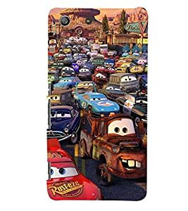 Printvisa Animated Human Cars Back Case Cover for Sony Xperia M5 Dual E5633 E5643 E5663:: Sony Xperia M5 E5603 E5606 E5653