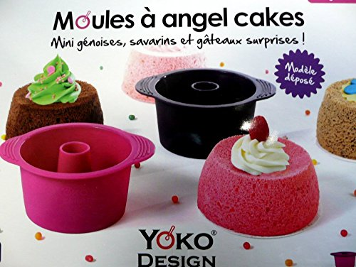 Yoko Design 1258 - Stampo per torta Angel Cake, 13 x 10,5 x 5,5 cm, colore: fucsia, viola scuro