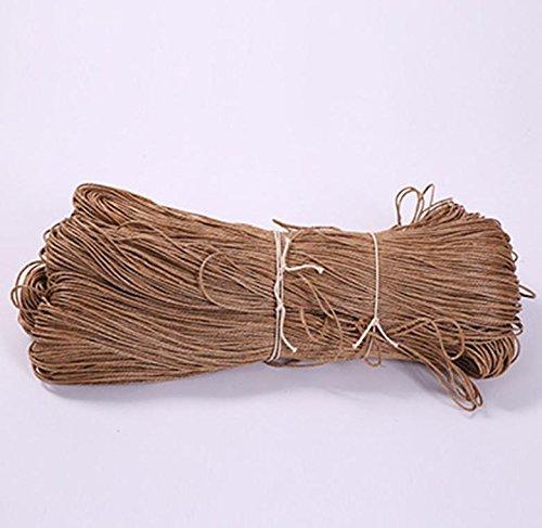Hanf Seil/Wachs Thread/Beutel Verpackung Seil/Tag Wand dekorative Fotoleine , soil yellow , wax 2.5mm (Wachs Hanf)