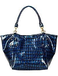 FASH Limited Crocodile Imprimer épaule Lustrous Sac à main , matériel d'or