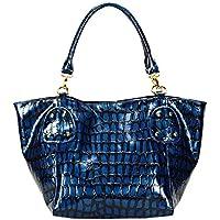 FASH Limited Coccodrillo Stampa brillante spalla borsa, hardware oro