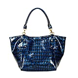 FASH Limited Crocodile Print Lustrous Schultertasche , Golden Hardware