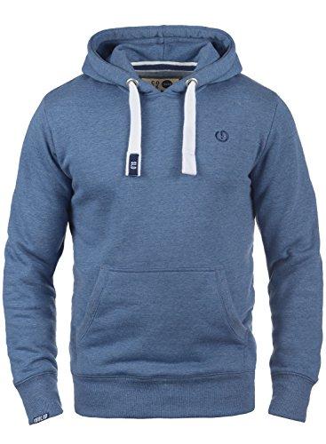 !Solid BennHood Herren Kapuzenpullover Hoodie Pullover mit Kapuze und Fleece-Innenseite, Größe:XXL, Farbe:Faded Blue Melange (1542M)