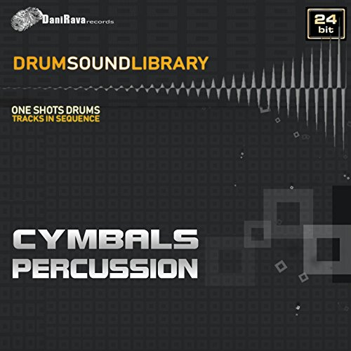 Drums Sound Library - Cymbals & Percussion (Tracks Samples in Sequence 24 Bit)