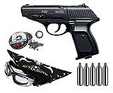 Outletdelocio Pack Pistola perdigon Gamo P-23 4,5mm. + Gafas Proteccion + Balines + Bombonas co2 33903/53385/29318/50523