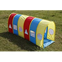 Kids Multi-coloured Pop up Play Tunnel Indoor Outdoor for kids with unlimited fun.