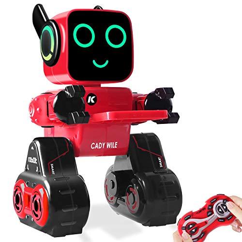 HBUDS Roboter Spielzeug für Kinder, Intelligent Ferngesteuerter Roboter mit LED-Licht Touch & Soundsteuerung, Spricht, Spielt Musik, Eingebaute Spardose, RC Roboter-Kit für Jungen, Mädchen