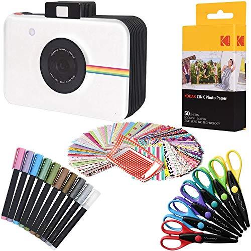 "Kodak 2x3"" Premium ZINK Fotopapier (50 Blatt) + Kamera-Scrapbook + 100 Kleberänder + 10 Marker + 6 bunte Kantenscheren (kompatibel mit Kodak Printomatic)"