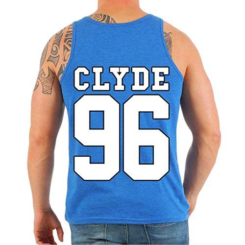 Partner Trägershirt BONNIE & CLYDE 69 (mit Rückendruck) MANN jeansblau meliert