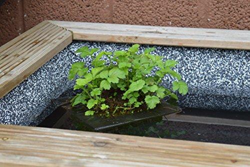 Teichwerk Steinfolie Granit Grau 40 cm breite x Wunschlänge Kiesfolie (1 (40 cm, Granit)