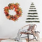 Cheerfulus Herbst Kranz / 30cm Durchmesser Christmas Wreath Bow Pine Needle Weihnachten Dekoration für Home Party im Freien Baumschmuck Zubehör