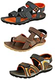 #2: Tempo Men's Combo of 3 Floaters Sandals