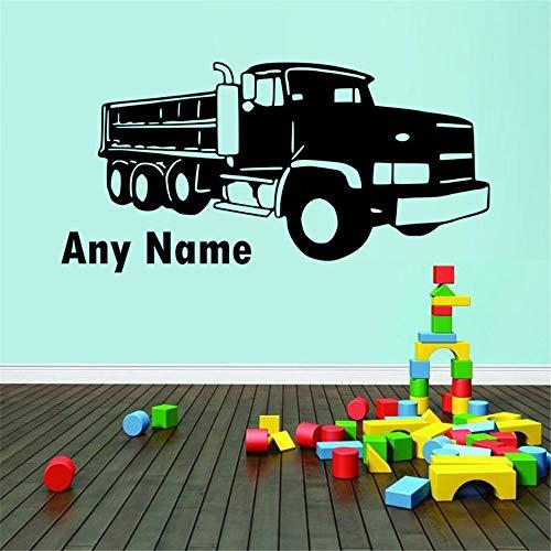yiyiyaya Echtes Fahrzeug Personalisierte Jeder Name Vinyl Wandtattoo Aufkleber Für Wohnkultur Dekoration Kindergarten Kinderzimmer Schlafzimmer Wandbild grau 58x30 cm -
