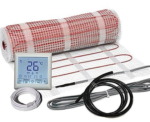 Komplett-Set elektrische Fußbodenheizung BZ-150 touch (2.0 m² - 0.5 m x 4 m)