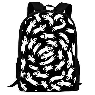 BagMothe Ghost Schulrucksack aus Polyester, Schwarz/Weiß, Schwarz (Schwarz) - P5QS-NU4-YHH