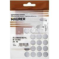 MAURER 5440128 - Tapatornillos Adhesivos Gris Metalizado, (blíster 20 unidades)