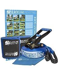 Slackline Industries práctica de Fitness Line, 15 m incluye llave de carraca, árbol y DVD