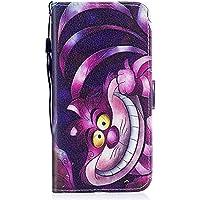 Ulefone S8 Pro Funda, ocketcase® Flip Libro de PU Cuero Leather Protectora Case Cover con Cierre Magnético Función de Soporte Billetera Tapa Carcasa para Ulefone S8 Pro - Gato sonriente