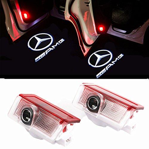 ZNYHUA 2 Stück Autotür Logo Einstiegsbeleuchtung Projektion Licht Türbeleuchtung Projektor Welcome Licht (E-AMG)