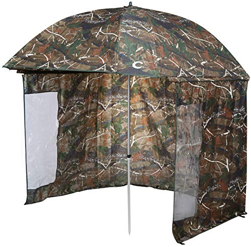 VTK Fishing, Angel Schirmzelt CAMO 250, Shelter Oxford, Aluminium, Superior, ... (Aluminium-shelter)