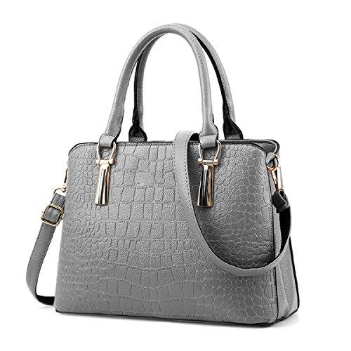 Grey Leder ZHI Dame Wild Tasche Winter Große Kapelle WU Herbst Weiche Messenger Handtasche Schulter Bag 5Xqd6Xwx