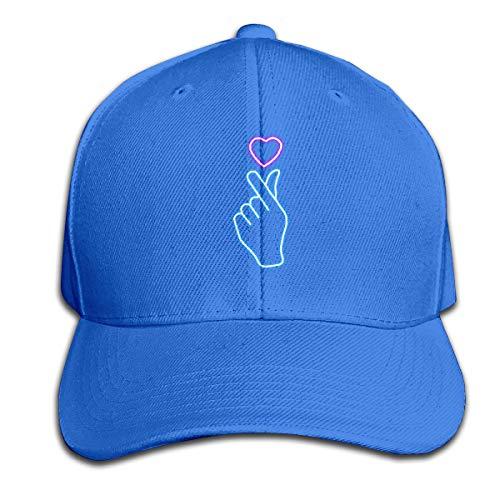 Osmykqe Heart Blue Hand Unisex Sommer Sonnenhut einstellbar lässig Golf Tennis Caps -
