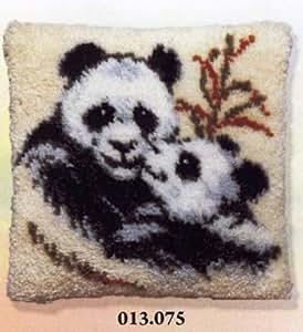 Pako Panda & Cub Latch Hook Cushion Front Kit by Pako