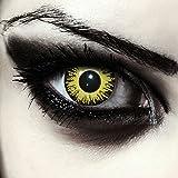 Giallo lenti a contatto colorate gialle per halloween Pennywise costume, morbide, non corrette modello: 'Yellow Fear'