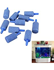 Weituoli Lodestar Pack de 10 Cilindros de Acuario Bubble Air Stone Fish Tank Aireador-Large