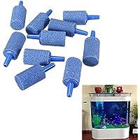 Forfar 10 piezas Cylinder Aquarium Bubble Aire Piedra para tanque de peces Aireación Aireador Difusor Oxígeno