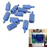 Forfar 10 Stück Zylinder-Aquarium-Blase Luft Stein für Aquarium Belüftungsbelüfter Diffusor Sauerstoff