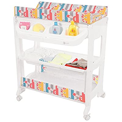 Mychild Peachy Changing Unit with Concealed Bath, Geo Diamond