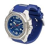 OTUMM - 05368 - Montre Homme - Quartz - Analogique - Chronomètre - Luminescent - Aiguilles - Bracelet Silicone Bleu