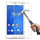 [Lot de 2] Sony Xperia Z3 verre trempé,Hepooya Film Protection écran Sony Z3 Film vitre en Verre trempé (0,33mm HD Ultra transparent) Dureté 9H Glass Screen Protector pour Sony Z3