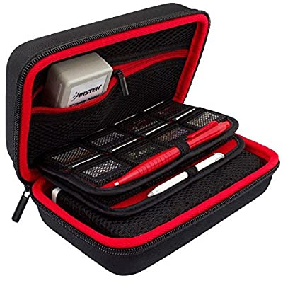 TAKECASE New Nintendo 3DS XL and 2DS XL Carrying Case - Includes XL Stylus, 16 Game Storage, Accessories Pocket, Hard Shell and Screen Cloth - Red/Black by TAKECASE