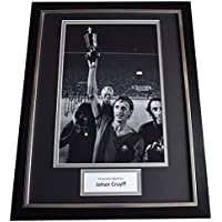 Sportagraphs Johan Cruyff Signed FRAMED Photo Autograph 16x12 display Barcelona Football COA PERFECT GIFT