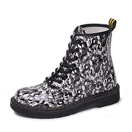 Télévision le printemps et l'automne bottes bottes Martin bottes camouflage sangle bottes imperméables télévision occasionnels sauvage