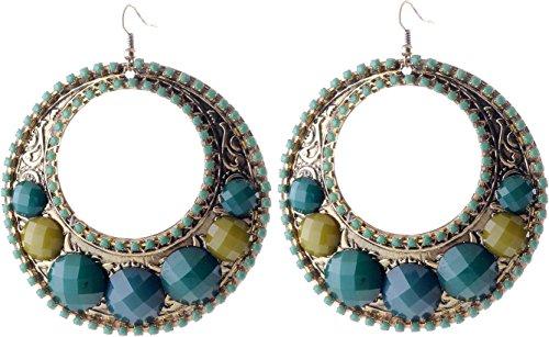 ie - Statement Ohrringe mit gelben Steinen - Designer Ohrringe für Frauen (Designer Modeschmuck Ohrringe)