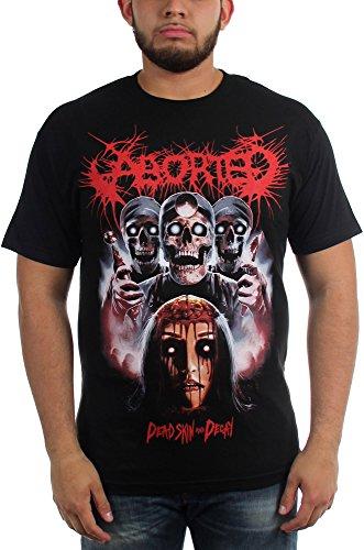 Aborted-Skin Dead-Maglietta da uomo Nero  nero