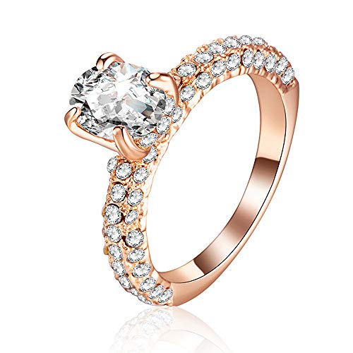Flash Diamond Oval Zirkon Prinzessin Kristall Ring YunYoud stahlringe billige holzringe doppelring trauring echtschmuck Ohrringe damenringe silberringe Frauen vorsteckring