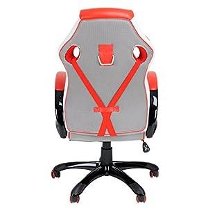 51qd7965CFL. SS300  - Fanilife-Racing-silla-estilo-de-juego-de-alta-trasero-de-cuero-PU-silla-giratoria-de-oficina-ajustable-silla-de-trabajo-rojo
