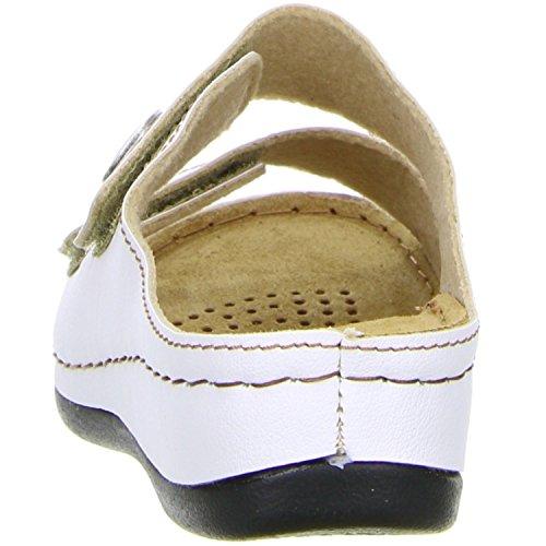 Vista 69-608 Damen Pantoletten Weiß