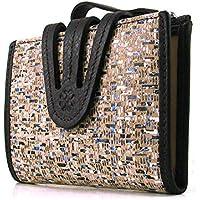 Frauen-Brieftasche, Handwerklich, casanova Marke, gemacht aus Haut, Ref. 23812 Braun