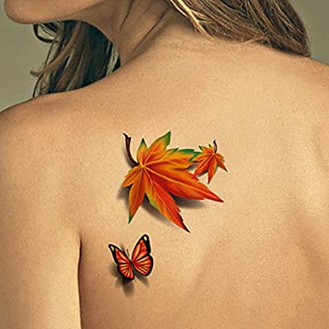 TAFLY Tatuaggi Temporanei Art Corpo Impermeabile 3d
